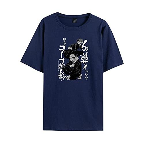 YALINH Jujutsu Kaisen T-Shirt Manica con Stampa Grafica 3D Corta Girocollo Cosplay Anime Top Casual T-Shirt T-Shirt in Cotone Estiva Unisex Tops Abbigliamento-A_2XL