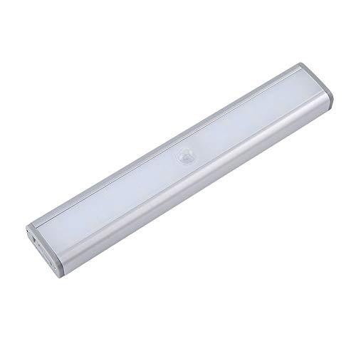 YOPU Luces de armario con sensor de movimiento recargables por USB, 20 LED, inalámbricas, para debajo del gabinete, se adhieren en cualquier lugar, lámpara magnética de noche