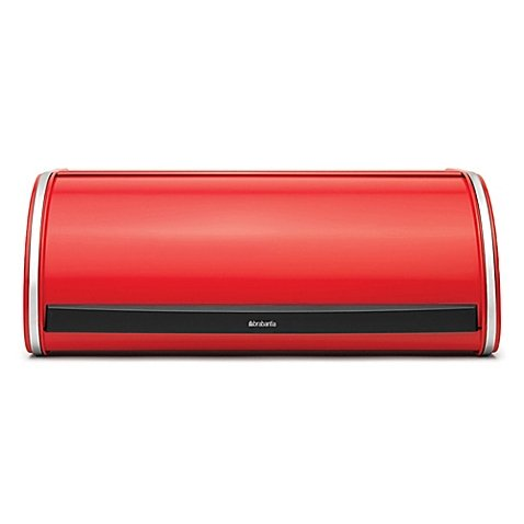 Brabantia Roll Top Bread Box in Red