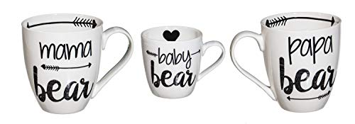 Cypress Home Beautiful Bear Family Ceramic Cup O' Java Cup Gift Set