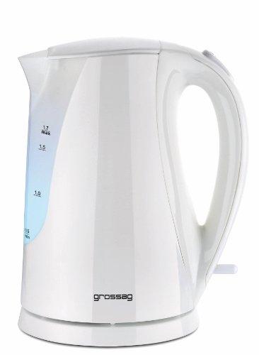 grossag Wasserkocher WK 22.00 1.7 Liter Weiß Abnehmbares Filtersieb Innen beleuchtet 2200 Watt