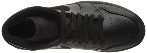 Nike Air Jordan 1 Mid, Chaussures de Basketball Hommes, Gym Red/White/Black, 47.5 EU