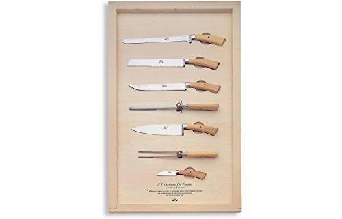 Coltellerie Berti-Il Trinciante da Parete-Servier-Messer, Geschmiedeter Küchenmesser-set