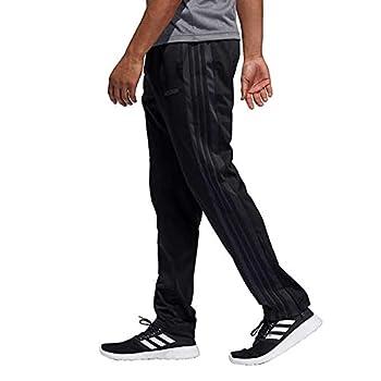 adidas Men s Essential Tricot Zip Pants  Large Black/Carbon/Black