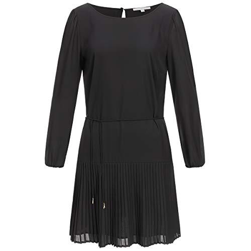 Patrizia Pepe Plissee-Kleid 38 schwarz