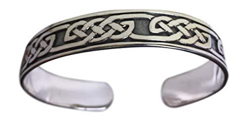 Herren-Armreif Sterling-Silber 925 keltisches Knotenmuster