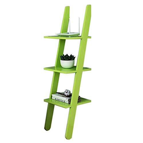 XYZX Boekenplank Wandplank 3-Shelf Shelf Hoek Boekenkast Verticale Display Stand Makkelijk Te Monteren Planken Groen
