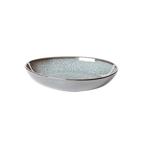 like. by Villeroy & Boch - Lave glacé Schale flach klein, 22 x 21 x 4,2 cm, stilvolle Speiseschale aus Steingut für kleine Beilagen und Salate, spülmaschin- und mikrowellengeeignet