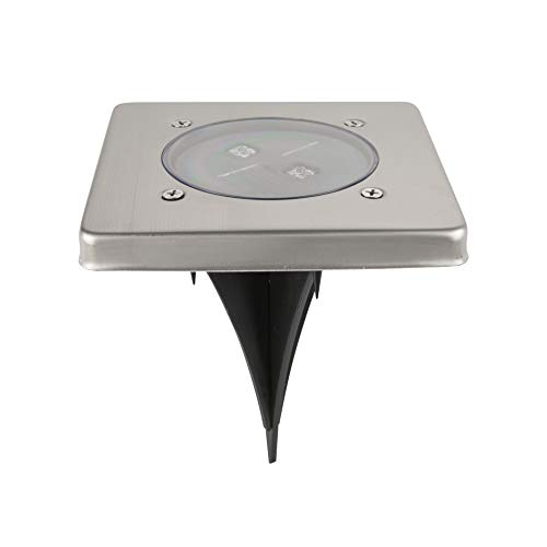 Ranex 5000.406 LED Solar Bodeneinbaustrahler, 4-eckig / LED