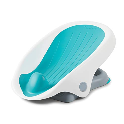 Summer Clean Rinse Baby Bather (Aqua) – Bath Support for Use on The Counter, in The Sink or in The Bathtub, Has 3 Reclining Positions and Soft, Quick-Dry Material – Use from Birth Until Sitting Up