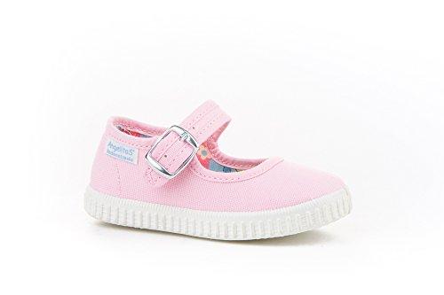 Zapatillas Merceditas de Lona para Niñas, Angelitos mod.123, Calzado Infantil Made in Spain, Garantia de Calidad.