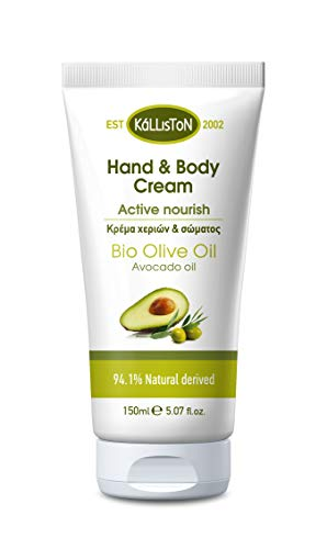 Natürliche Hand Körper Creme mit Avocadoöl 150ml Kalliston Kreta Griechenland Naturprodukt Handcreme Bodylotion Avocado Avokado Öl
