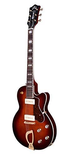 Guild Guitars Aristocrat P90 Solid Body Electric Guitar, Vintage Sunburst, Harp Tail, Newark St. Collection