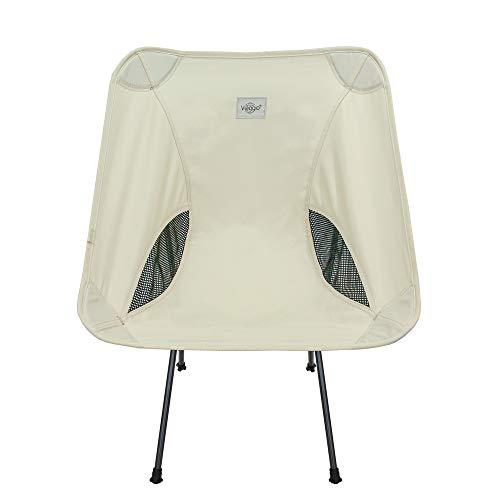 Viaggio+ アウトドア チェア イス 椅子 折りたたみ 背もたれ 軽量 コンパクト キャンプ グランピング (エクリュ)