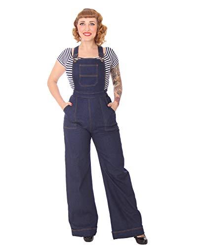 SugarShock Damen Marlene Latzhose Alanka Denim, Größe:XL, Farbe:dunkelblau