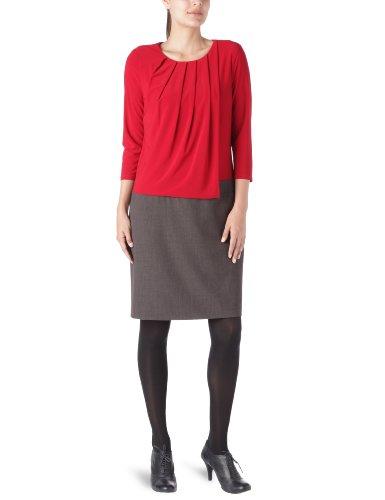 Derhy Damen Dirndl Schürze, Rundkragen - Rot - Rouge - 36 (Herstellergröße: S)