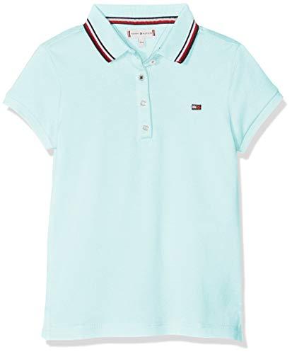 Tommy Hilfiger Mädchen Essential Polo S/S Poloshirt, Blau (Blue Light 483), 104 (Herstellergröße: 4)