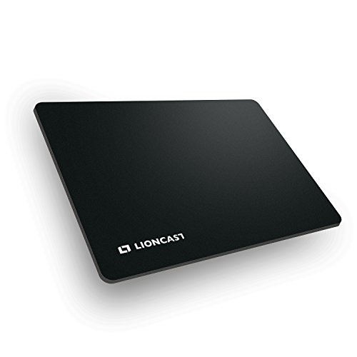 Lioncast Buff Gaming Mauspad/Gamer Mauspad (280mm x 200mm, Stoff) schwarz/Black - perfekte Gaming Performance und ultimativer Grip auf jeder Fläche