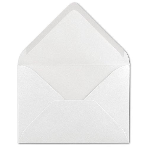 50 DIN B6 Briefumschläge Hochweiß - 12,5 x 17,5 cm - 80 g/m² Nassklebung Post-Umschläge ohne Fenster für Einladungen - Serie Colours-4-you