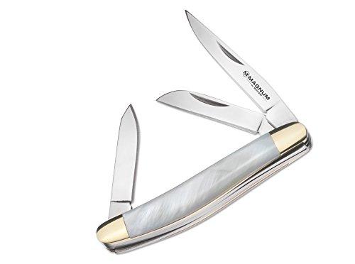 Magnum Micro Pearl Stockman Taschenmesser Weiß, Klingenlänge: 3,3 cm, 01MB402