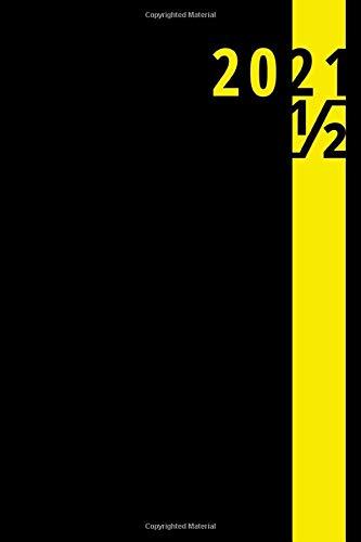 Agenda giornaliera semestrale 2021: quaderno   taccuino, nero (Luglio - Dicembre): Notebook   piccolo formato - Formato ~ A5   185 pagine a righe   copertina del libro: opaca e flessibile