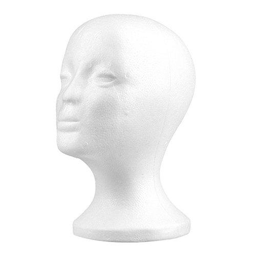 gzzebo Praktischer weiblicher Schaufensterpuppenkopf aus Schaumstoff, für Brillen, Perücken, Haarschmuck