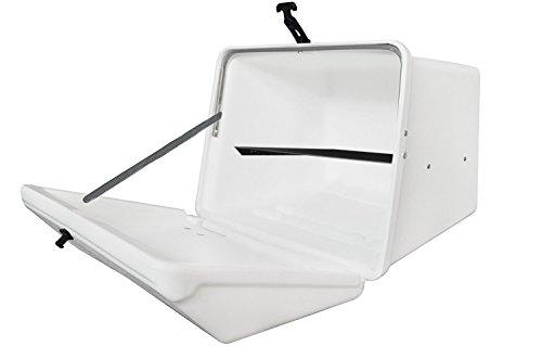Portaequipajes Moto baúl Reparto Blanco con Bandeja y Reflectantes homologados