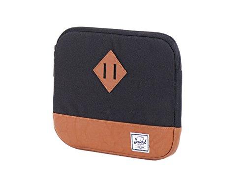 Herschel Tablet-Tasche Heritage, schwarz/braun, 31 x 22 x 2 cm, 10177-00001
