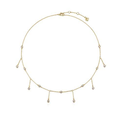 zlw-shop Collar de Mujer Collar de la Borla de la clavícula Corta Cadena Simple Capa Collares de Cadena Ajustable for Mujeres niñas Collares Pendientes
