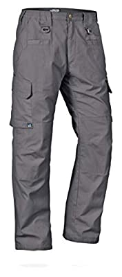 LA Police Gear Men's Water Resistant Operator Tactical Pant with Elastic Waistband Grey-36 X 32
