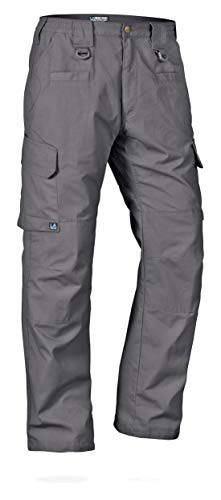 LA Police Gear Men's Water Resistant Operator Tactical Pant with Elastic Waistband Grey-34 X 32