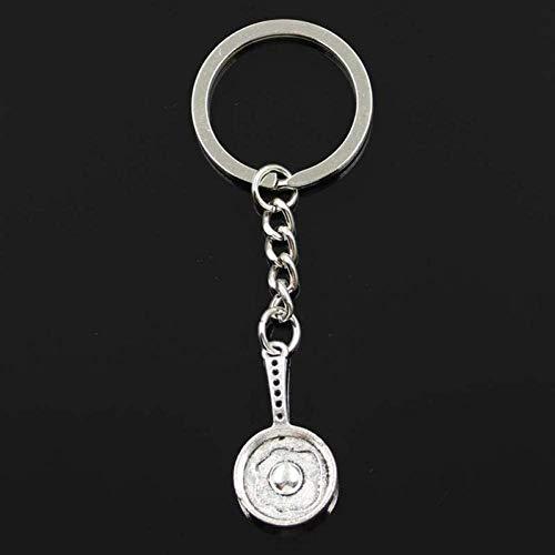 BMGFEW Schlüsselanhänger Exquisite Mode Bratpfanne Spiegelei 31X16X4Mm Anhänger 30Mm Schlüsselringkette Silber Herrenauto Geschenk Souvenir Schlüsselbund