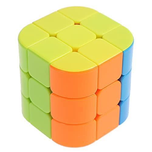 Sequenzielles Puzzle 3 Schritte Zylindrischer Würfel 3X3X3 Speziell geformtes Smooth Speed Puzzle Kinderpuzzle