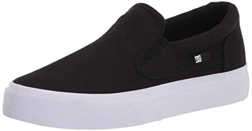 DC womens Trase Slip Skate Shoe, Black/White, 10 US