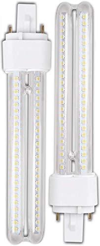 Genetic H268 15W- Pack 2 Bombillas PLC LED 15W Luz Fria A+ G24-3 2Pin H268