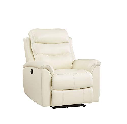 Z-Color Lehnstuhl, Beige Breathable Top Grain Leder Recliner Sofa Schlafsofa für Heimkino-Sitz verstellbar Elektro Reclinersofa Lounge Chair Wohnen Roo