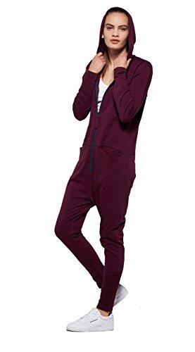 OnePiece Damen UNO Jumpsuit, Violett (Burgundy), 40 (Herstellergröße: L) - 4