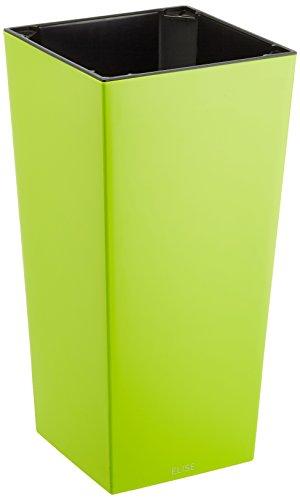 Plastkon Décoration Pot en et Pot Elise Brillant 30 cm extérieur, erbsengrün