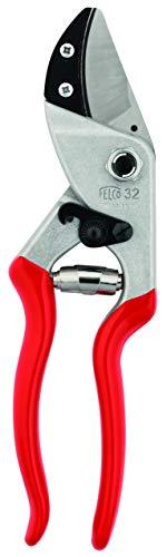 FELCO 32 Einhand-Baumschere / Rebschere / Gartenschere / Amboss-Schere / Baumschere | Klinge aus gehärtetem Stahl, mit gebogenem Amboss, sauberer präziser Schnitt, alle Teile austauschbar