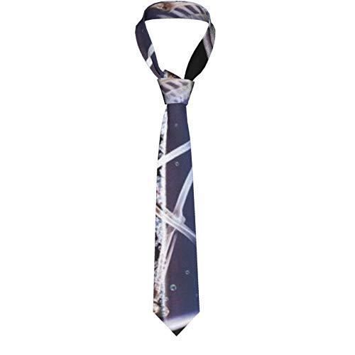 Braune Pferdekopf-Tier-Krawatte für Herren, klassisch, formell, schmal, lässig, Gentleman-Anzug, Krawatten für Hochzeit, Party, Büro, Business Gr. Einheitsgröße, Abstrakter dunkler Horror