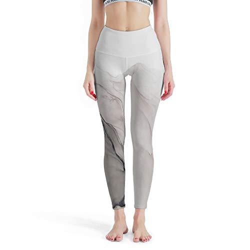 Twelve constellations Polainas deportivas jaspeadas para mujer, sexys, elásticas, jaspeadas, pantalones de yoga para fitness, color blanco, 3XL