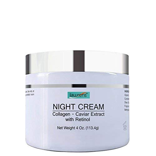 Night Cream with Collagen, Caviar Extract & Retinol - repair and moisturize skin at night - 4 oz