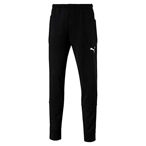PUMA Herren Liga Casuals Pants Hose, Black White, XL