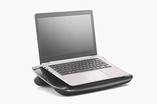 Exponent 50727Superior notebook/laptop supporto con morbida schiuma cuscini e ventilatore