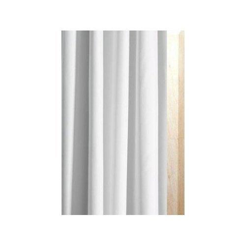 Luxxur Plus Superior antibakteriell 300cm breit x 200cm Drop weiß Polyester Stoff Vorhang für die Dusche mit schwereren 50g gewichtetem Saum & rostfreien Ösen