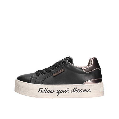 Replay Damen Shields Sneaker, Schwarz (Black 3), 39 EU