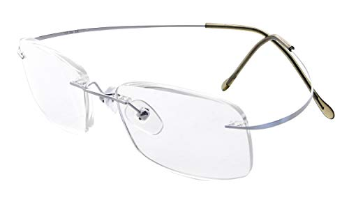 Eyekepper Glasant Titanio occhiali da lettura Uomo Donna Argento +0.75
