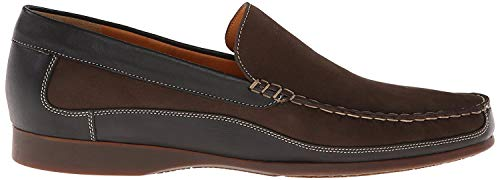 Mephisto Men's Baduard Slip-On Loafer, Dark Brown Nubuck/Black Calf, 10.5 M US