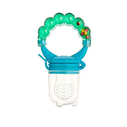 Baby Fruchtsauger Schnuller für Obst und Gemüse – Aus Premium Silikon zu 100% BPA-frei – Fruchtschnuller Set (Blau) - 6