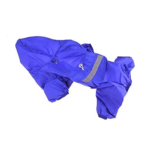 Chubasqueros para Perros Impermeable Perro Impermeable para Perros Azul Al Aire Libre para Cuatro Estaciones Perros Pequeños Grandes Gatos Abrigo De Lluvia con Capucha Chaquetas Impermeables M
